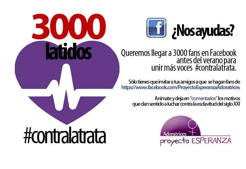 3000 latidos #contralatrata: ciberacción