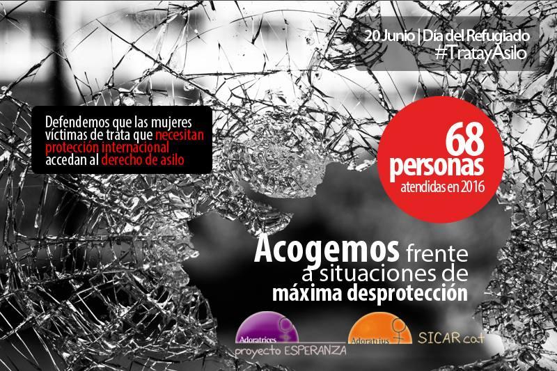 68 víctimas de trata atendidas en 2016 con necesidades de protección internacional