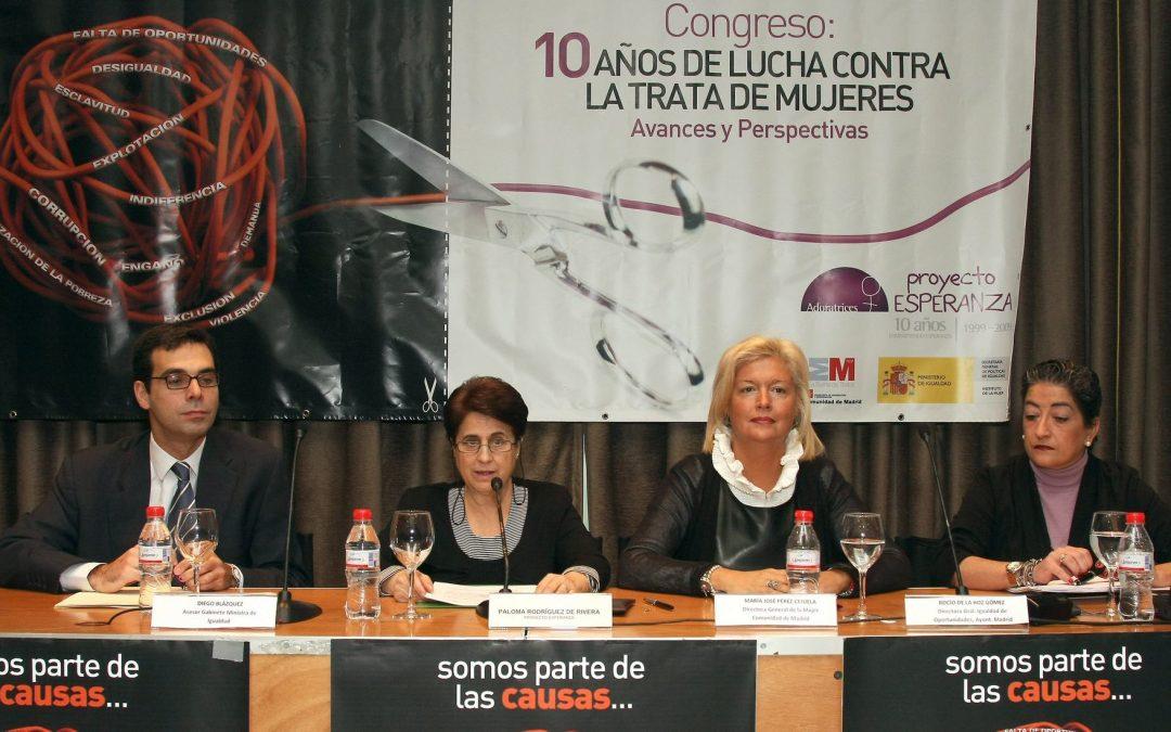 Conclusiones del congreso: 10 años de lucha contra la trata de mujeres, aprendizajes y perspectivas