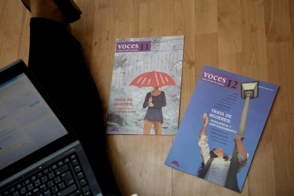 Lanzamiento de la revista Voces contra la Trata de Mujeres