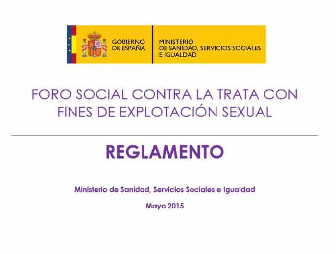 Miembros del Foro Social contra la Trata con Fines de explotación sexual
