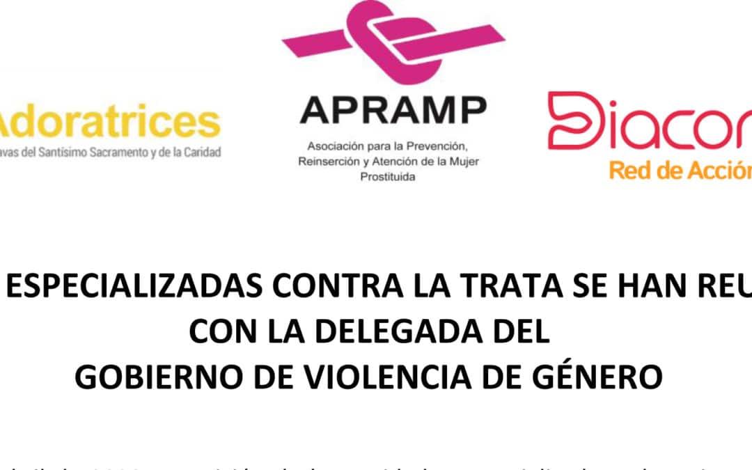 Ong´s especializadas contra la trata se han reunido con la delegada del gobierno de violencia de género