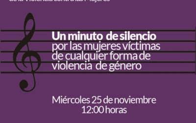Un minuto de silencio por las víctimas de violencia de género